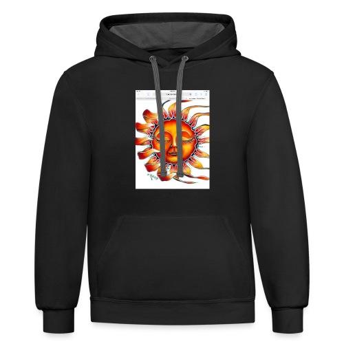 sun designed ☀️ - Contrast Hoodie