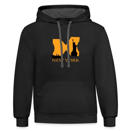new york for design - Contrast Hoodie