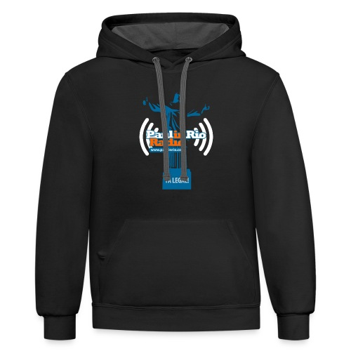Paul in Rio Radio - The Thumbs up Corcovado #2 - Contrast Hoodie