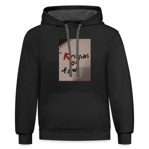 Knights of fnaf merch - Contrast Hoodie
