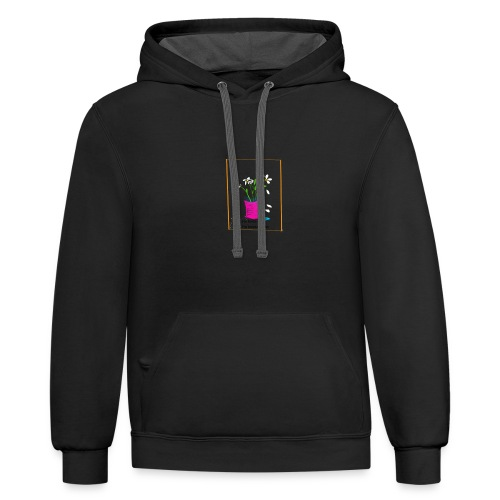 He Loves Me He Loves Me Not Daisy - Contrast Hoodie