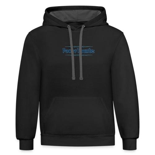 PowerThumbz Tag Blue - Contrast Hoodie