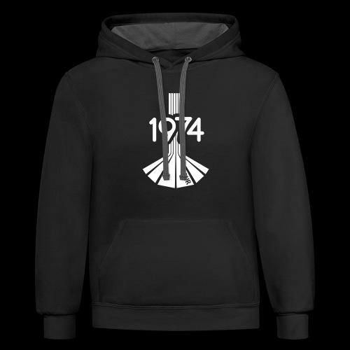 1974 Tour Monochrome Logo - Contrast Hoodie