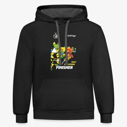 Half Marathon Finisher Shirt - Contrast Hoodie
