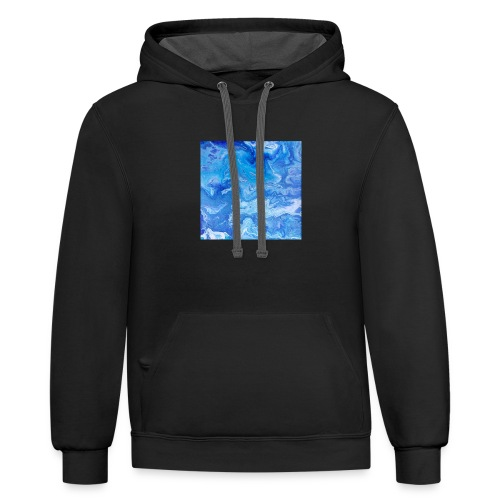 As deep as the ocean and as far as the universe - Contrast Hoodie