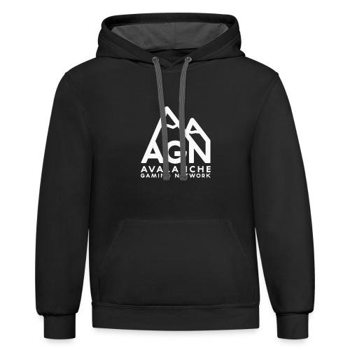 AGN White Logo Hoodie - Contrast Hoodie