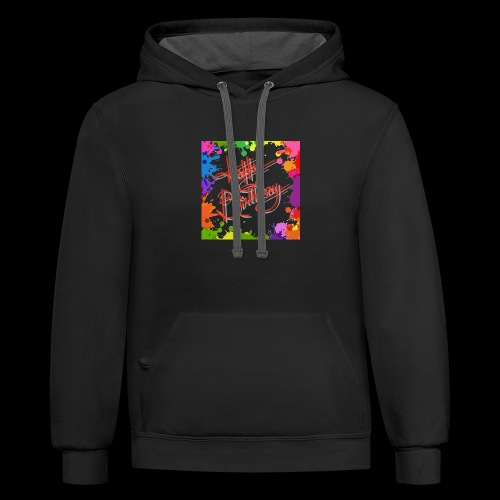 T-shirt for brithday - Contrast Hoodie