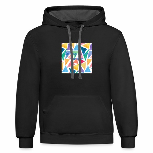 Smiling On The Outside - Contrast Hoodie