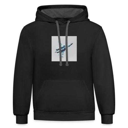Bomber Flyer - Contrast Hoodie