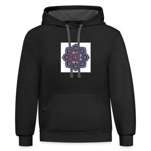 Mandala Magic - Contrast Hoodie