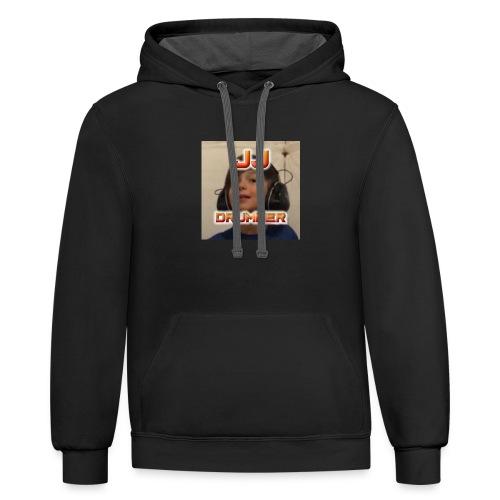 JJ Drummer Merch Clothing - Contrast Hoodie