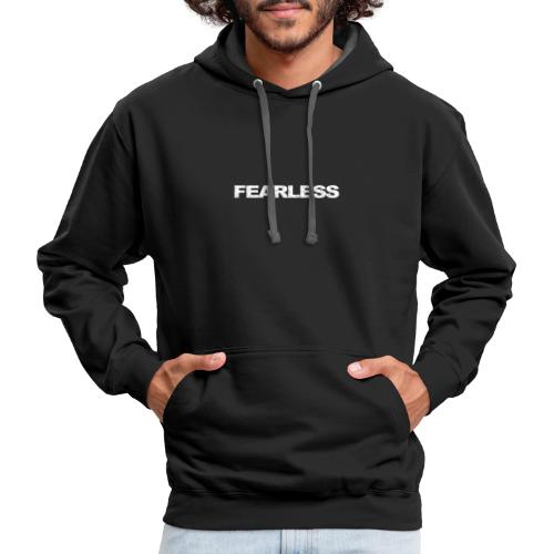 motivation & inspiration for fearless - Contrast Hoodie