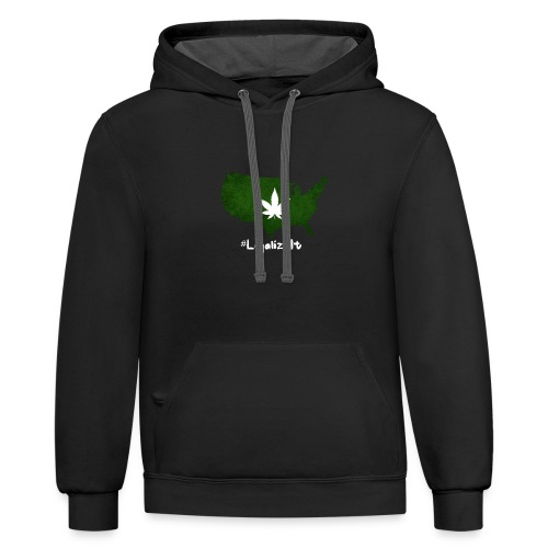 #LegalizeIt : National Weed League - Contrast Hoodie