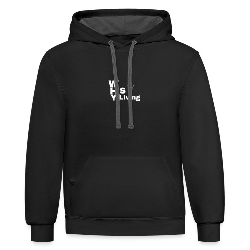 whyISiLiving - Contrast Hoodie