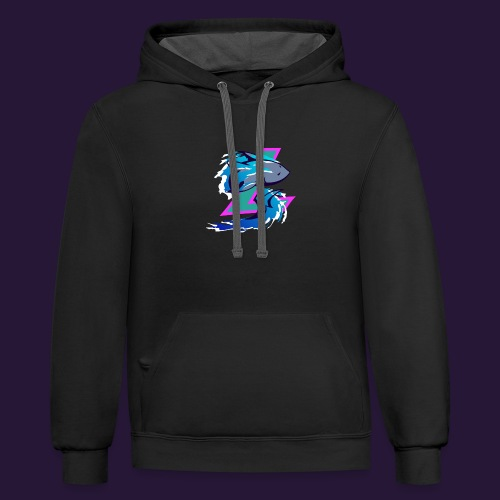 Sharklad Logo - Contrast Hoodie
