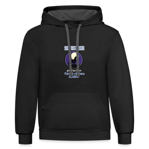 SAVE THE WOLVES - Contrast Hoodie