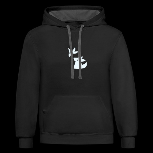 Fluffy hollow logo - Contrast Hoodie