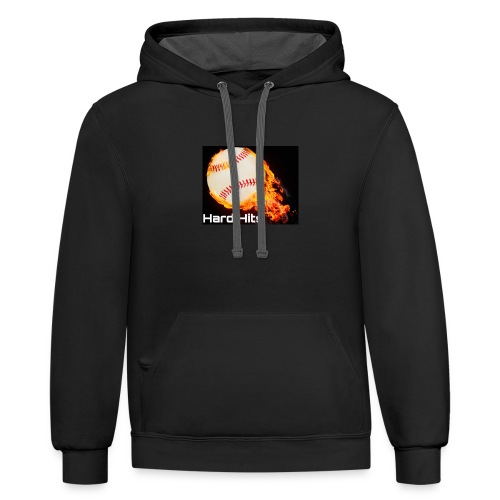 Hard Hits flames baseball edition - Contrast Hoodie