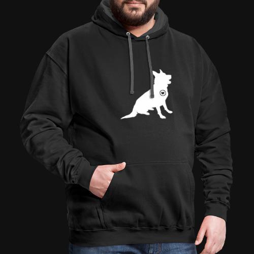 German Shepherd love - Contrast Hoodie