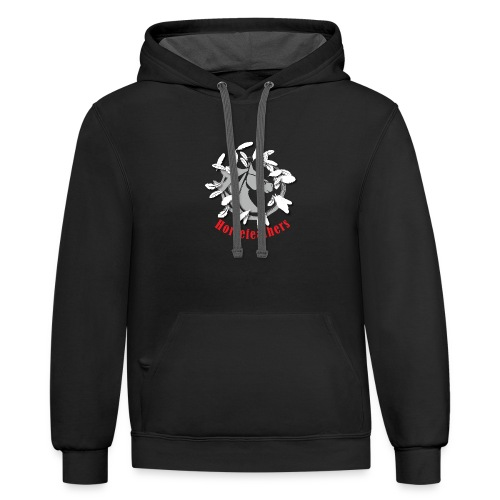 Gray Horsefeathers Head FEATHERS - Contrast Hoodie