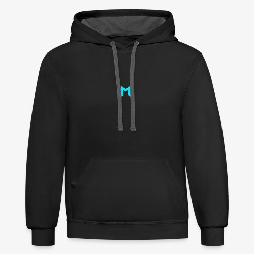 Turquoise Mrzah Logo - Contrast Hoodie