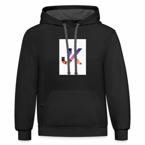 just knight - Contrast Hoodie