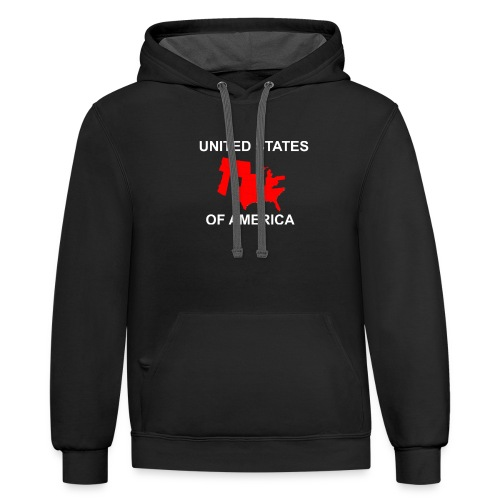 United States Fly Over Country - Contrast Hoodie