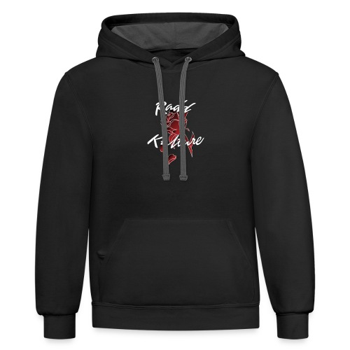Official Red RaddKulture Logo Tops - Contrast Hoodie