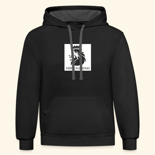 The King Never Panics - Contrast Hoodie