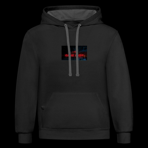 YouTube game over new murch - Contrast Hoodie