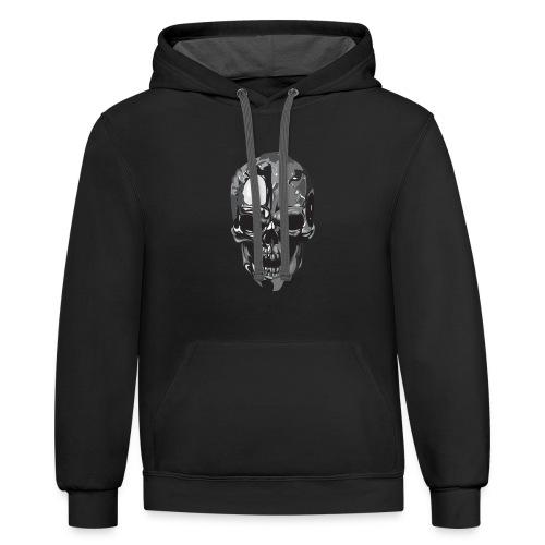 Silver Skull - Contrast Hoodie
