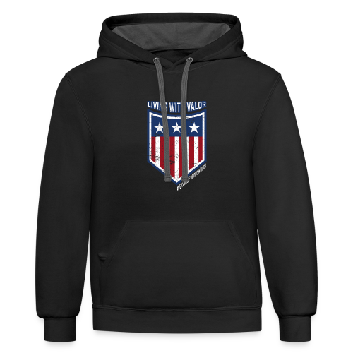Living with Valor - Contrast Hoodie