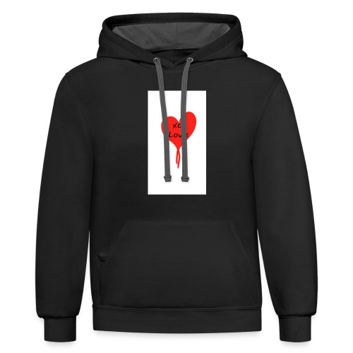 Give Love - Contrast Hoodie