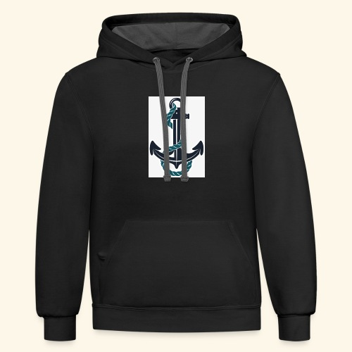 anchor - Contrast Hoodie