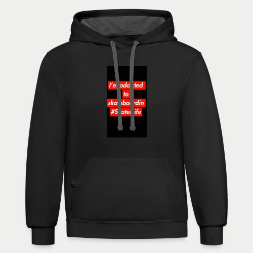 Addicted To Skateboarding - Contrast Hoodie
