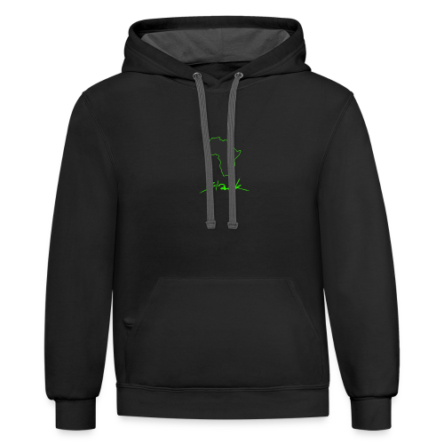 Black Green Edition - Contrast Hoodie