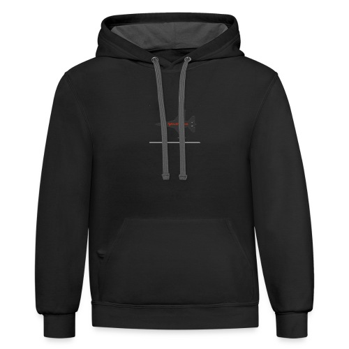 f 16 silhouette png - Contrast Hoodie