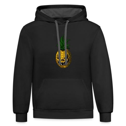 Creepy Halloween Pineapple - Contrast Hoodie