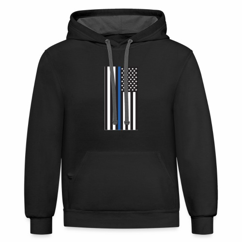 Thin Blue Line - Contrast Hoodie