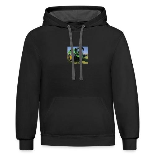 John Deere S670 Combine Shirt - Contrast Hoodie