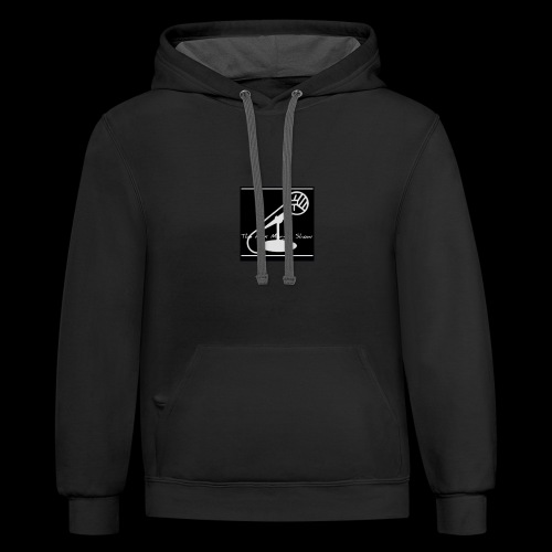 AMshow (BLK-WH) - Contrast Hoodie