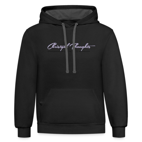 Christyal Thoughts C3N3T31 CP - Contrast Hoodie