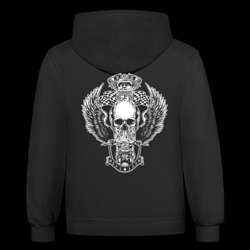 Awesome Motorcycle Cool Biker Gift T-Shirts - Contrast Hoodie