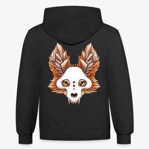 fox skull - Contrast Hoodie