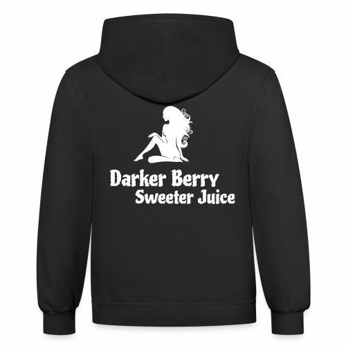 Darker Berry Sexy V - Contrast Hoodie