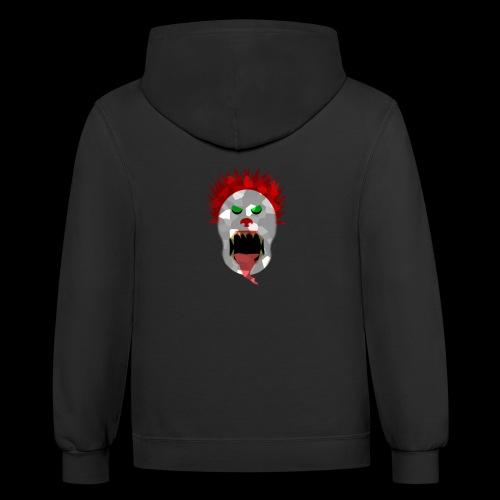 creepy clown Halloween design - Contrast Hoodie