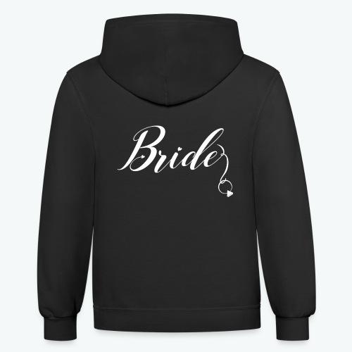 VaRod Designs Bride Tee in white letters - Contrast Hoodie