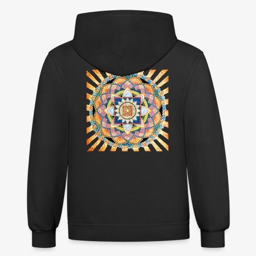 Radiant Light Mandala - Contrast Hoodie
