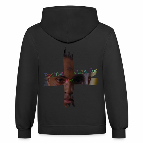 Positive vibes for life [Version X] - Contrast Hoodie