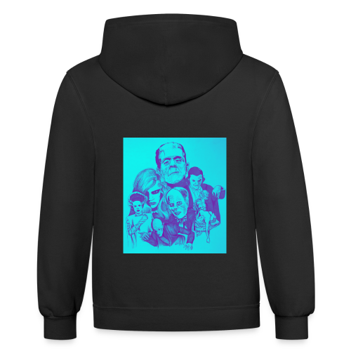 Ghouls got the Blues - Contrast Hoodie